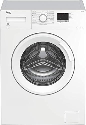 Beko WML61423N Waschmaschine, 3-6-9 h Startzeitvorwahl, Schleuderwahl, 1400 U/min, ProSmart Inverter Motor - mit 10 Jahren Motorgarantie, A+++, nur 41,5 cm tief - platzsparend, Weiß