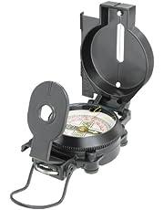 National Geographic Kompas met drijvend gelagerde schaal van 360 graden, noordpijl, bevestigingsoog en vizierdraad/-spleet voor het vastzetten van landobjecten, zwart