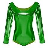 OBEEII NIña Maillot de Ballet Danza Gimnasia Leotardos Ballet Gimnasia Dancewear Clásico Verde S