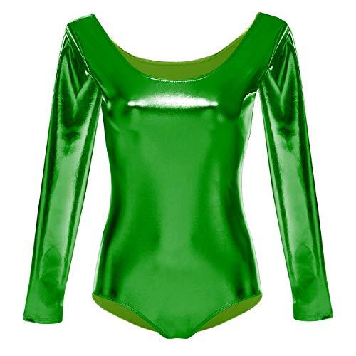 OBEEII NIña Maillot de Ballet Danza Gimnasia Leotardos Ballet Gimnasia Dancewear Clásico Verde XS