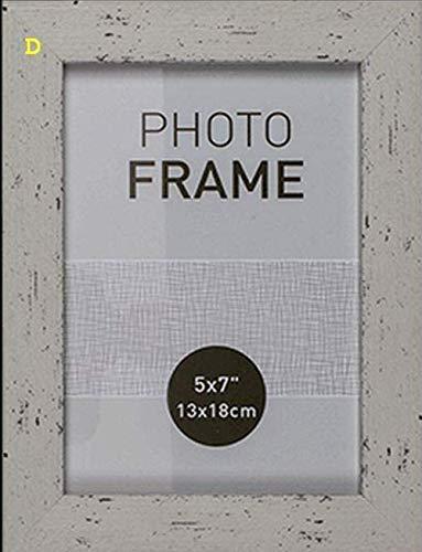 Marco de fotos en madera color pastel