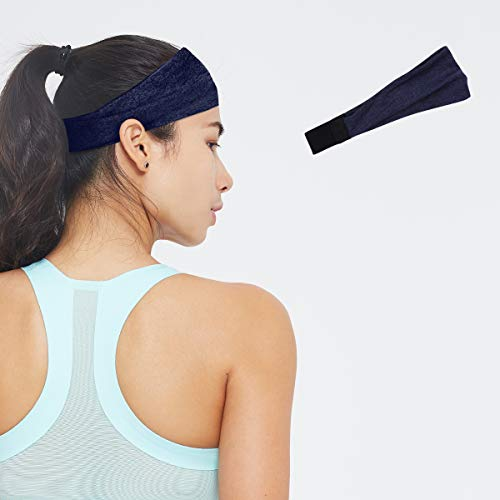 Eono by Amazon - Sports Sweat Headbands for Running, Fitness, Tennis (Navy-Female)