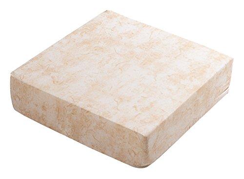 Coussin sitzblock-dessus de chaise coussin coussin de taille : env. 38 x 38 x 10 cm cm (crème)