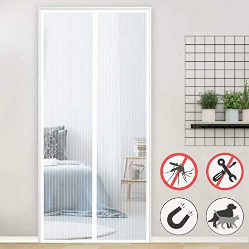 Aiyaoo Fliegengitter Fenster Magnet 140x280cm Luft kann frei strömen Befreien Ihre Hände vom Aufklappen Familie zuverlässig vor Insekten Mehrere Größen für Dachfenster Bodentiefe Fenster - Weiß
