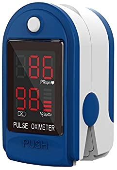 ClinicalGuard CMS-50DL Fingertip Pulse Oximeter Blood Oxygen Saturation and Heart Rate Monitor with Batteries Soft Case Silicon Cover Lanyard