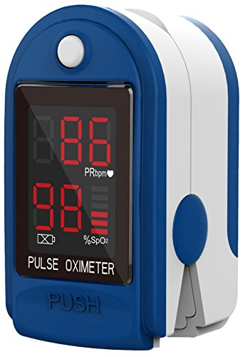 ClinicalGuard CMS-50DL Fingertip Pulse Oximeter with Neck/Wrist Cord, Blood Oxygen Saturation and Heart Rate Monitor