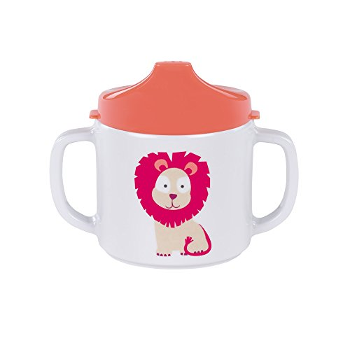 Lässig 1310007717 2-Handle Sippy Cup with Lid & Silicone Tazza per Imparare a Bere, 6+...