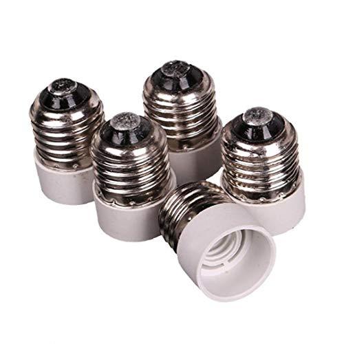 Kacniohen Socket Adaptador E27 a E14 Tornillos medianos a Base Intermedia Bombilla zócalo Adaptador convertidor Reductor 5PCS