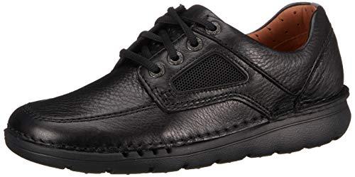 Clarks Herren Unnature Time Derbys, Schwarz (Black Leather), 44 EU