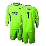 # 1 Leno Arsenal Torwart Trikot Langärmliges T-Shirt Und Shorts