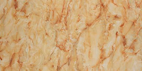Deko Wandverkleidung in Marmor- und Granitoptik für Küche, Wohnzimmer, Wintergarten und Büroräume (Onyx)