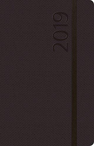 Agenda Struktur schwarz S 312419 2019: Terminplaner klein. Terminkalender als Ringbuch mit Wochenkalender, Gummiband und Jahresplaner 2019 - 8 x 12,5 cm