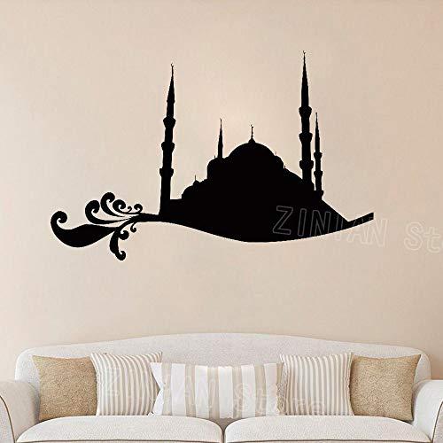yaonuli Muslin slaapkamer murah ramadan masker islam religieuze muur stickers home decor woonkamer
