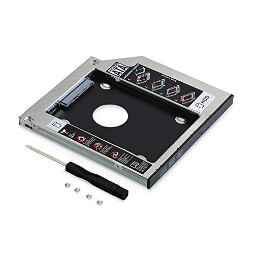 Neuftech Soporte Adaptador óptica bahías de Disco Duro Caddy SATA 2nd 2.5