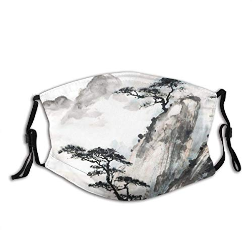 Gesichtsdekoration Japanische chinesische Landschaftsmalerei China Ink Mountain Tree...