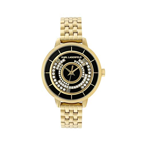 KARL LAGERFELD Women's GL Concentric Crystal Bracelet Damenuhr, 33mm, Quarz - 5552755