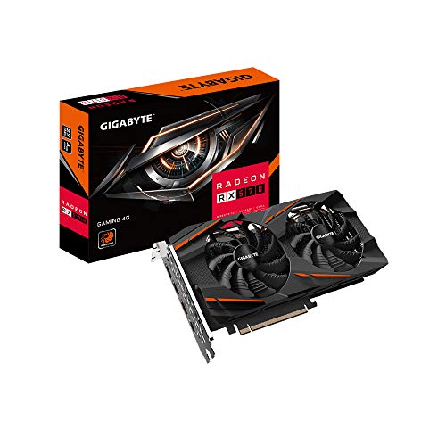 Gigabyte Radeon RX 570 Gaming 4G Grafikkarte, 3X WINDFORCE Lüfter, 8GB 256-Bit GDDR6, GV-RX570GAMING-4GD REV2.0 Grafikkarte