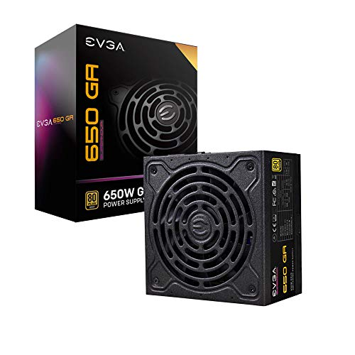 EVGA SuperNOVA 650 Ga, 80 Plus Gold 650W, Fully Modular, ECO Mode with Dbb Fan, 10 Year Warranty, Compact 150mm Size, Power Supply 220-GA-0650-X1