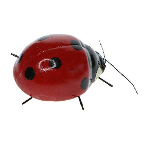 Homyl Animaux Aimant en Clay Pot D'insectes Décoration Figurine Artisanat Micro-paysagère - Coccinelle