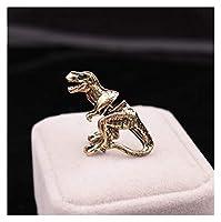 TMYQM パンク恐竜動物猫犬の鹿のイルカ馬のスパイダーAX 3Dスタッドイヤリングメタルピアスイヤリング (Color : 1 piece, Size : 02 bronze)
