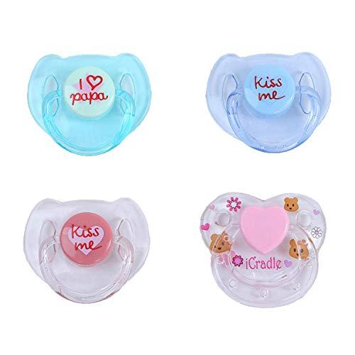 Terabithia Reborn Baby Dolls Accesorios 4 Piezas Chupete magnético