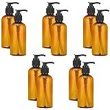 Jky 6/8/10 unidades 100 ml vacío Spray Botella Cosmética Crema Loción Bomba Botella Gel Líquido Bomba dispensador Botella Champú Spray para aceites esenciales, Lociones detergente, marrón, 10 unidades