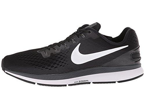 Nike Men's Air Zoom Pegasus 34 Flyease Running Shoe (8.5, Black/White-Dark Grey)