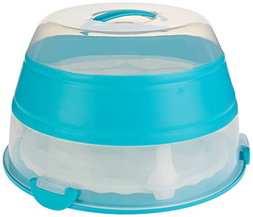 Préparatifs de Progressive BCC-1AZ Porte-cupcakes et gâteaux pliables Boîte à cupcakes et gâteaux – Emballage sans frustration. 24-ct. bleu