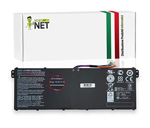 New Net Batteria AC14B8K Compatibile con Notebook Acer Swift 3 SP314-51 SP314-51-564Y SP314-51-M90J Spin 5 Gateway NE512 [3220mAh]