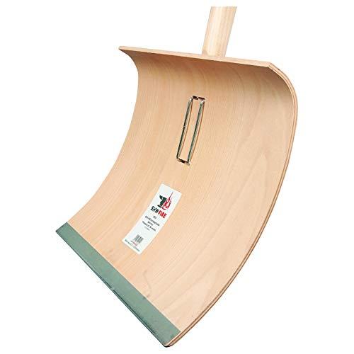 SHW-FIRE 59021 Schneeschaufel Schneeschieber Holz Sperrholz 50 cm breit Professional mit Aluminiumkante Stiel 150 cm lang - 3