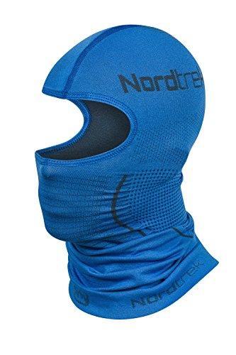 Freenord Nordtrek thermoactiv Sturmhaube Balaclava Sturmmaske Skimaske Sturmmütze Kopfschutz Gesichtsmaske Motorradmaske … (Blau, L/XL)