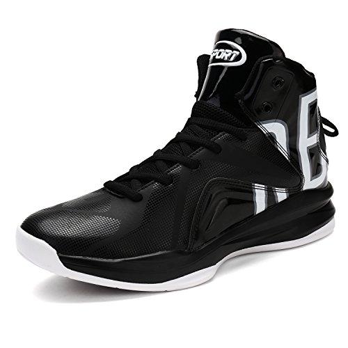 Zapatos De Baloncesto Para Hombre Zapatos De Baloncesto Personal Rendimiento Absorción De Choque Botas De Baloncesto Zapatillas De Deporte Ligero Ligero,Blanco,41