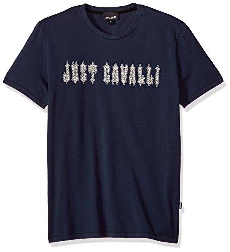 Just Cavalli S03GC0473 Camiseta con Las Mangas Cortas Hombre Blu 470 2XL