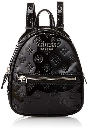 GuessPeony Shine Micro Mini BackpacDamenRucksackSchwarz (Black)6.5x18x15.5 centimeters (W...