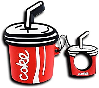 Ultra Thick Soft Silicone Red Coke Case and Finger Loop for Apple Airpods with Charging Case 1 2 Cocacola Coca Cola Protec...