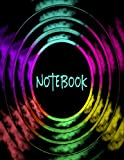 Notebook: Simple Lined Paper Notebook With Black Cover - Full Size ( 8.5' x 11' inches )