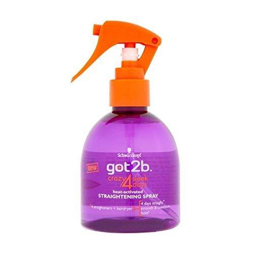 Schwarzkopf Got2b Crazy 4 Sleek Days Heat Activated Straightening Spray 200ml by GOT 2B