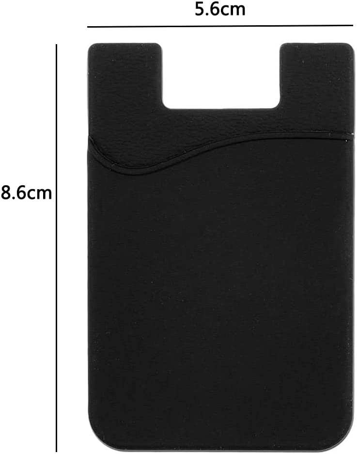 Phone Card Holder, Cell Phone Stick on Wallet, Credit Card, Business Card & Id Holder, Compatible with iPhone, Android & Most Smartphones(3 Pack)