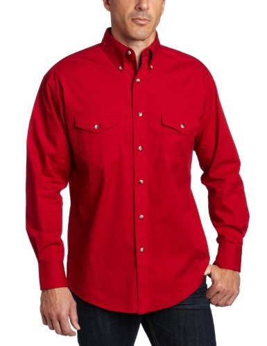 Wrangler Men's Painted Desert Basic Shirt, Red, Large