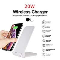 Quic 20W Qi Wireless Folding Vertical Fast Charger Charging Bracket High Power Docking Stand