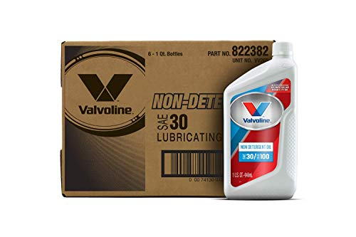 Valvoline Daily Protection Non-Detergent SAE 30 Conventional Motor Oil 1 QT, Case of 6