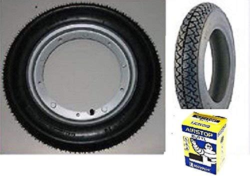 2 neumáticos Michelin S83 + cámara de aire 3.50 10 59J + llanta LML Star 200