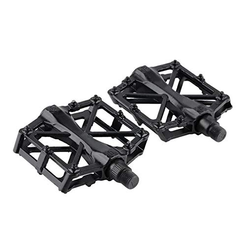BianchiPamela Pair Aluminum Alloy Flat Platform Bicycle Cycling Riding Pedals Treadle