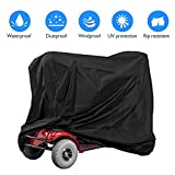 Mobility Scooter Cover Waterproof Outdoor Storage, Heavy Duty Scooter 50cc Cover, Lightweight Electric Wheelchair Cover for Harley Davidson Travel, All-Weather Protection& Buckles 55 x 26 x 36inch