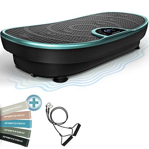 Messe-Neuheit! VP250 Vibrationsplatte im Edlen Curved Slim Design | Fett-Verbrennung & Muskelaufbau | leiser Motor mit 180 stufen | 7+1 Trainingsprogramme inkl. Yoga Option |Bluetooth Lautsprecher