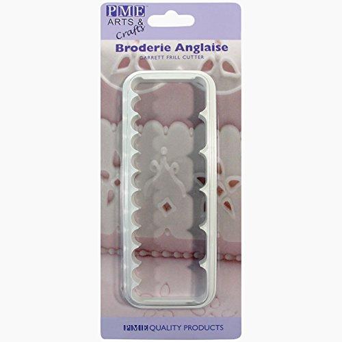 PME FF381 Découpoir pour Froufrous, Plastique, Blanc, 5 x 1,5 x 14 cm