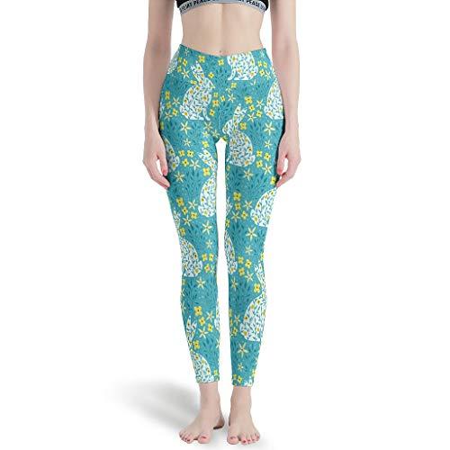 MiKiBi-77 Pantalones De Yoga Conejo Pascua Divertido Casual Popular - Pantalones De Yoga Para Traje Blanco Xs