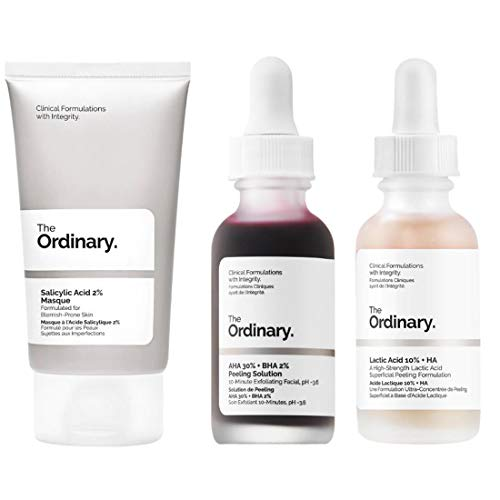 The Ordinary Face Exfoliator Set Aha 30 Bha 2 Peeling Solution Help Fight Visible Blemishes Lactic Acid 10 Ha For Healthier Looking Skin Salicylic Acid 2 Mask Smoothness Clarity Buy