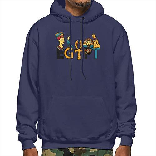 Tengyuntong Hombre Sudaderas con Capucha, Sudaderas, Men's Pullover Hooded Sweatshirt - Ancient Egypt
