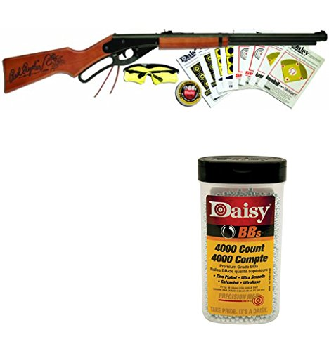 Daisy Bundle Includes 2 Items - 1107803 Red Ryder Shooting Fun Starter Kit 35.4  Length 980040-446 .177 Caliber BB s, 4.5-Milimeter, 4000-Count